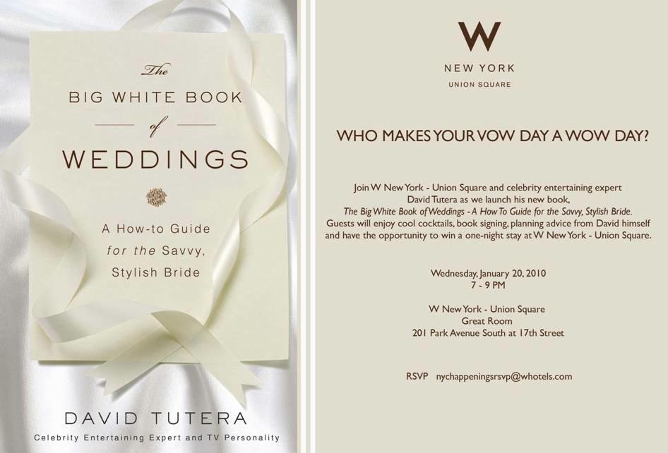 The White Book Of Weddings David Tutera
