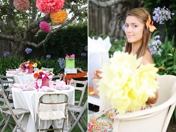 bright-pink-bridal-shower-wedding-outdoor-decorations