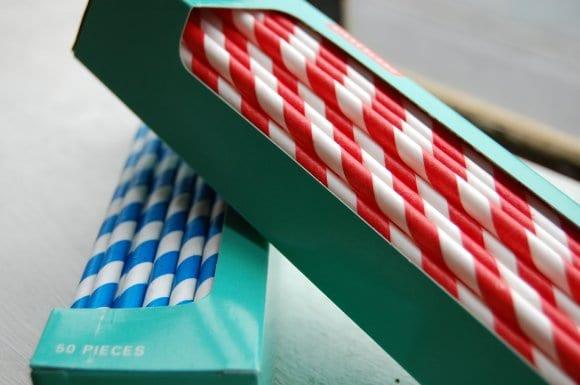 Striped Straws Paper Paper Straws