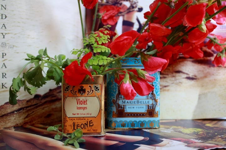 Sweet pea vintage tin centerpieces the sweetest occasion