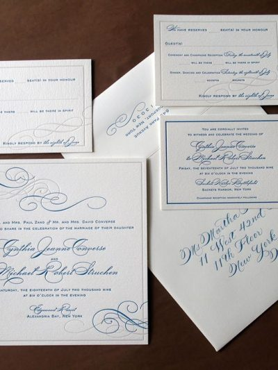 Our Bella Figura Letterpress Invitations on Oh So Beautiful Paper thumbnail