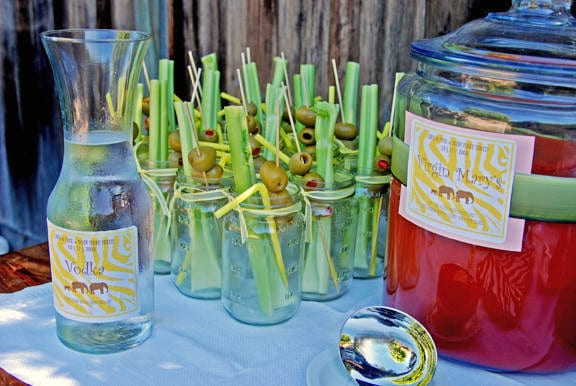 bloody-marys-mason-jars-baby-shower-refreshments