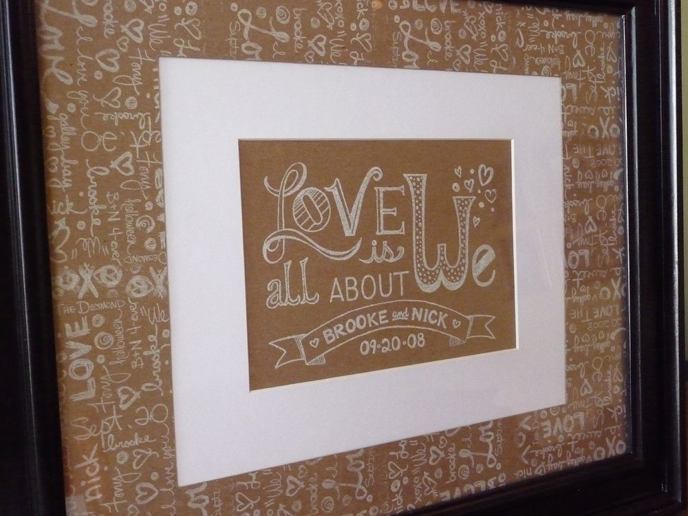 First Anniversary Gift Paper Claremont Raod