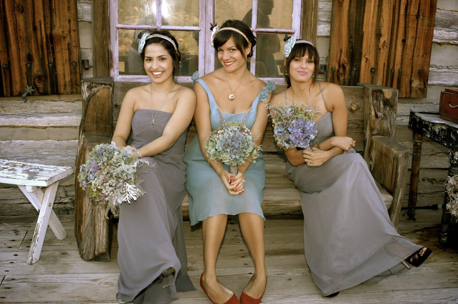 Gray bridesmaid dresses hydrangea bouquets the sweetest occasion gray bridesmaid dresses hydrangea bouquets ombrellifo Gallery
