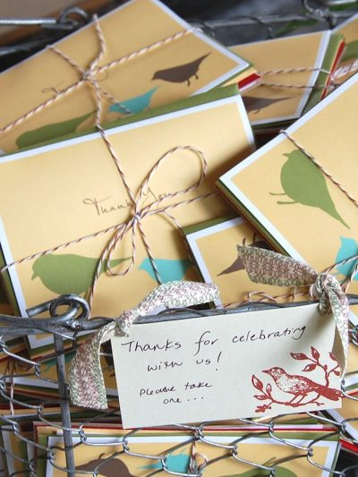Green Paper Company Thank You Card Favors thumbnail
