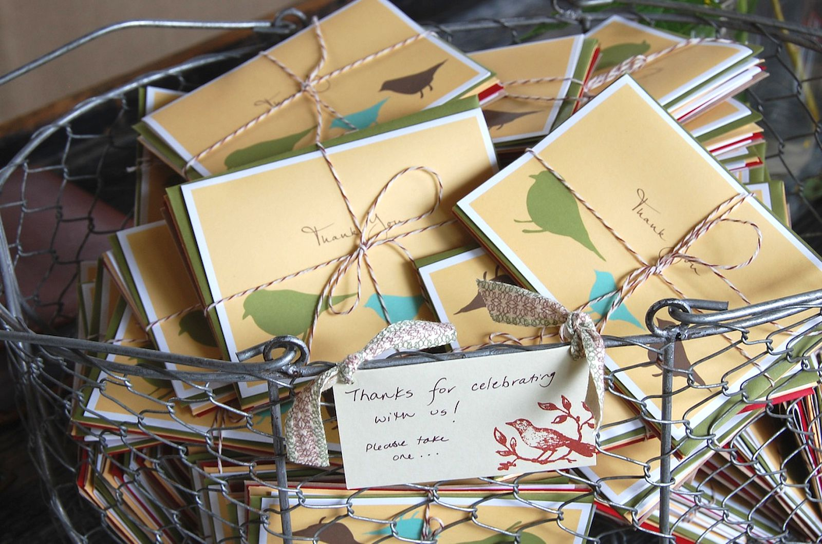 Green Paper Company Thank You Card Favors The Sweetest Occasion