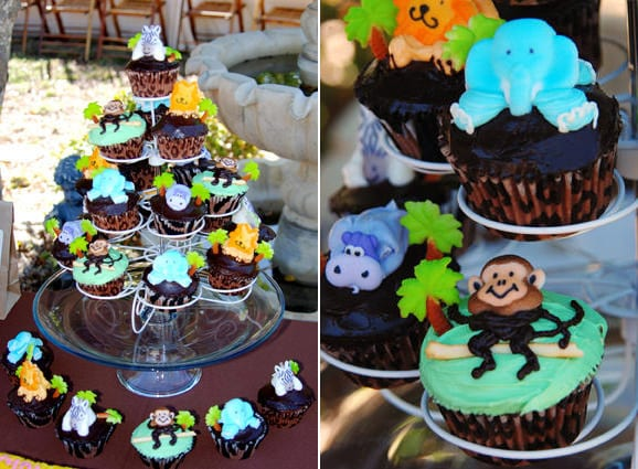 jungle-themed-monley-cupcakes