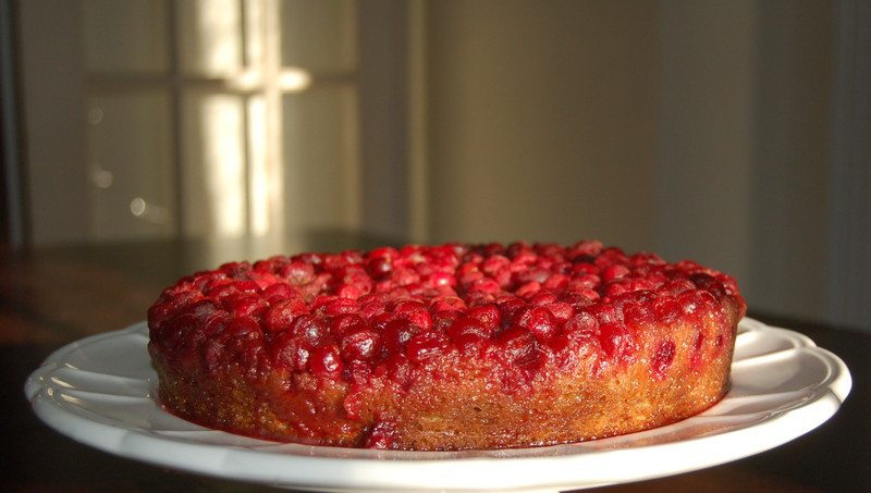 Cranberry upside down cake on Kitchenography .}
