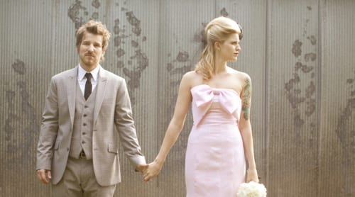pink-wedding-dress-bride-tattoos