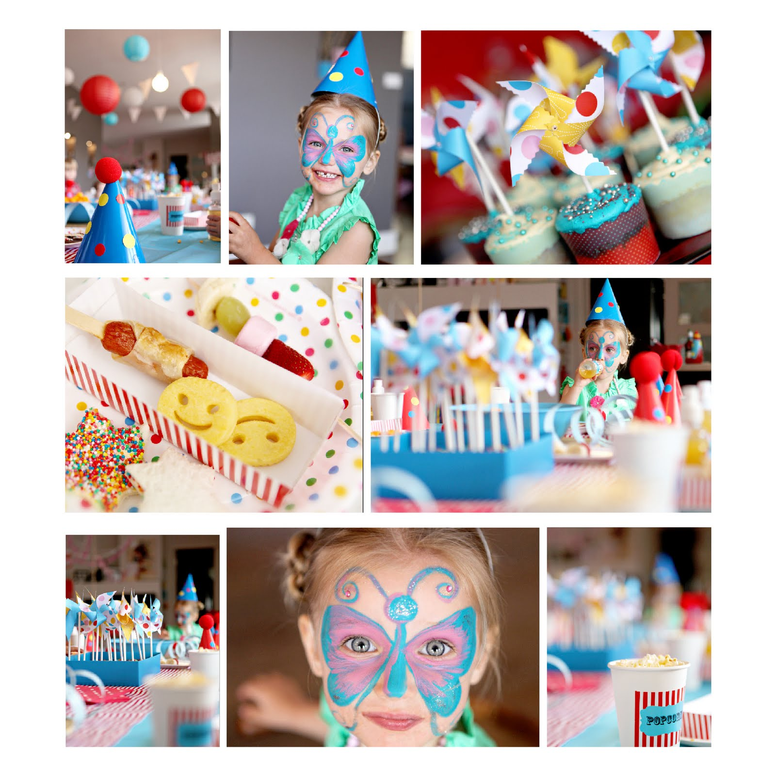 Red Yellow Blue Carnival Theme Birthday Party