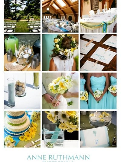 Teal, Green and Yellow Wedding Inspiration thumbnail