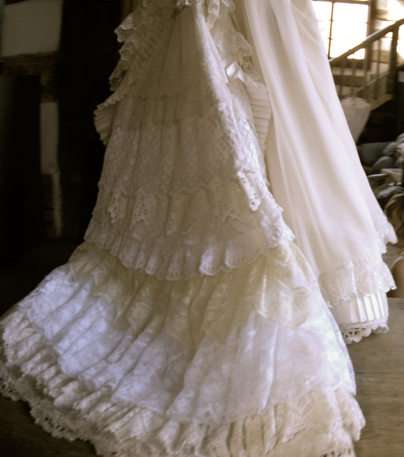 Vintage Lace Wedding Gowns: Figueroa Mountain Farmhouse Wedding