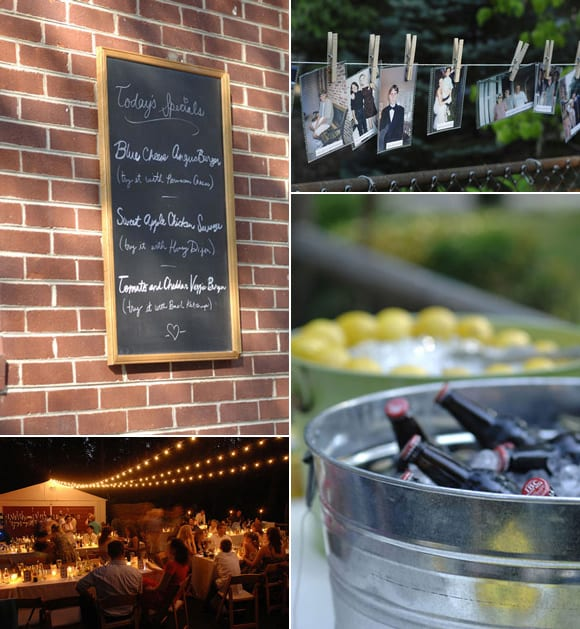 backyard-outdoor-wedding-chalkboard-menu-drink-tubs-photo-line