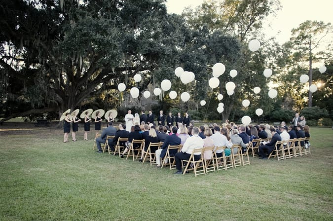 Inspiration Outoor Ceremonies: Pretty Yellow Charleston Wedding