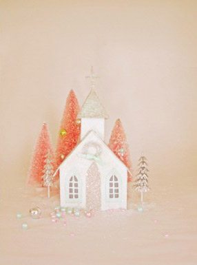 DIY Glittery Winter Houses thumbnail