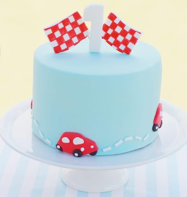 Race Car Birthday Cake Boys First Birthday Cake
