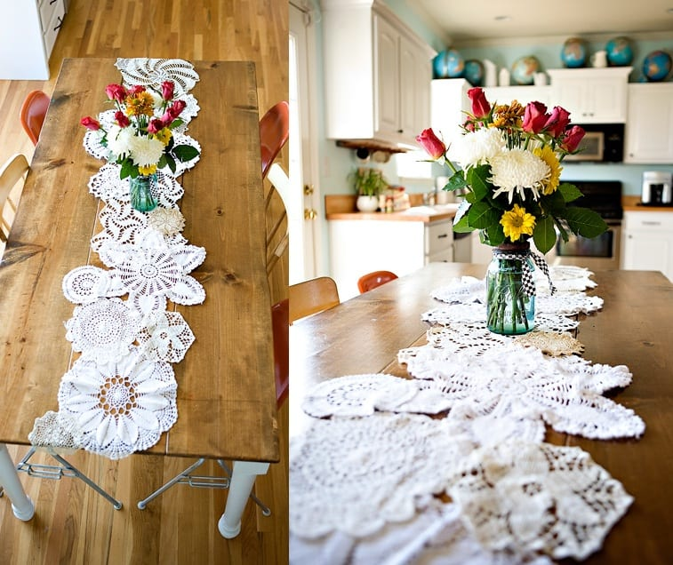 wedding Runner  Table —  Sweetest The Occasion Sweetest Doily doily runner The  table DIY