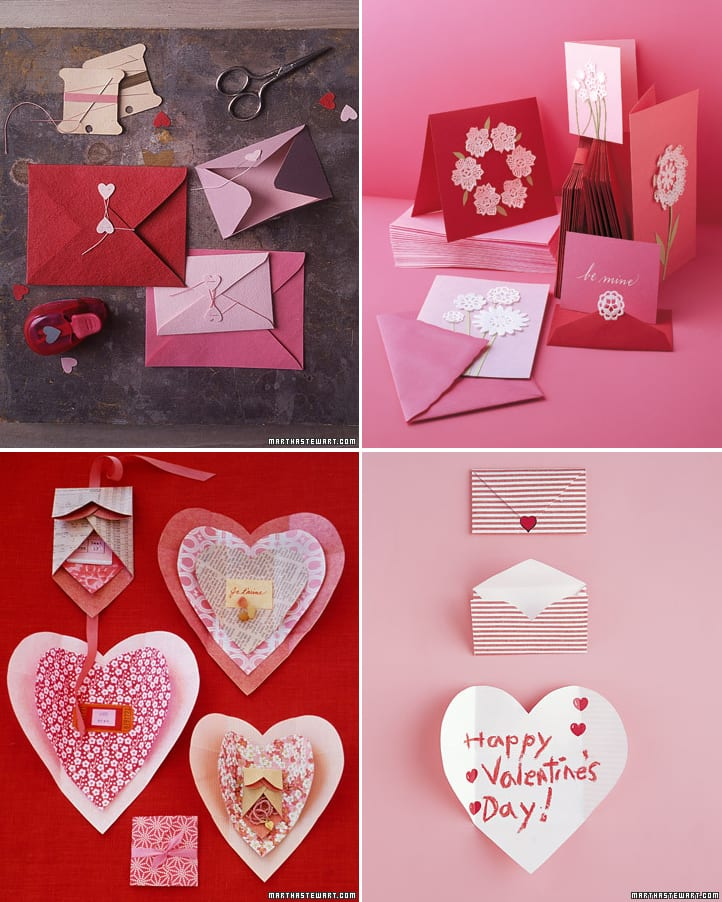 As always, the Martha Stewart website is loaded with DIY Valentine's Day