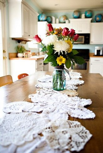 DIY Doily Table Runner thumbnail