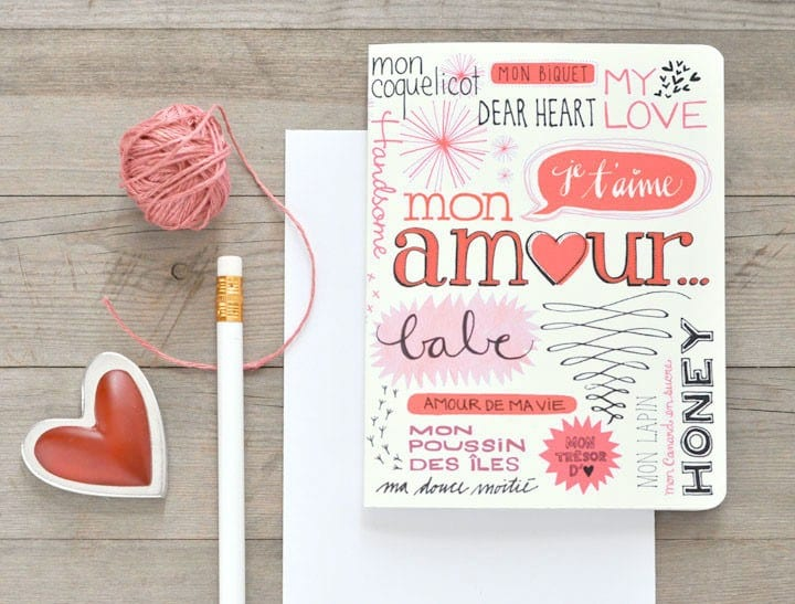 Hand Lettered Bilingual Valentine S Day Card The Sweetest Occasion