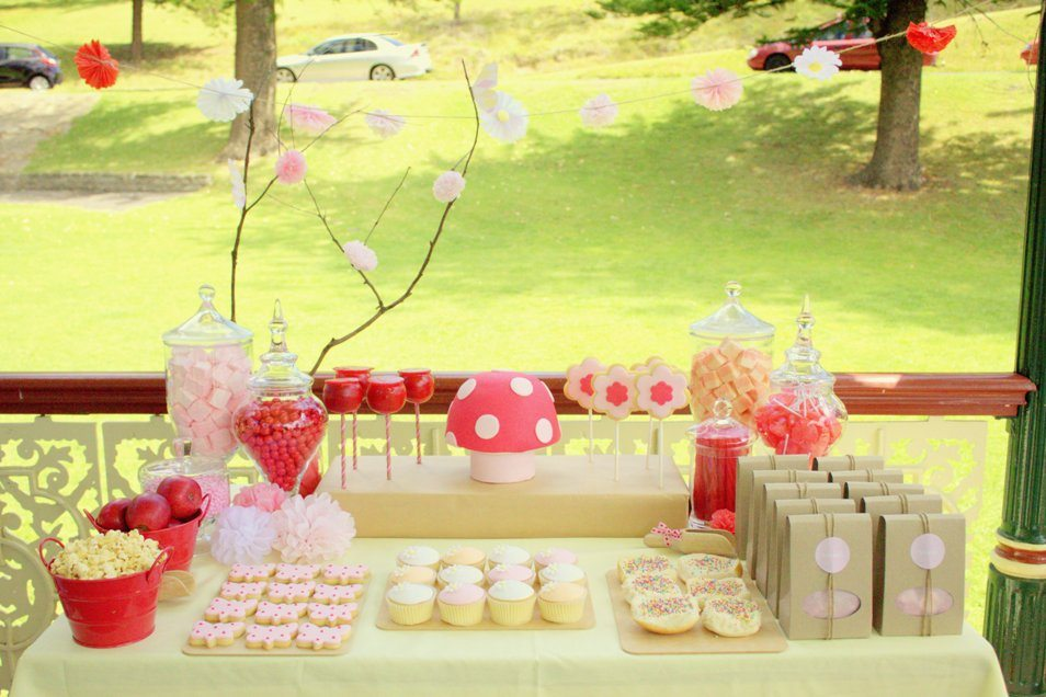 Pink Girl Fairy Birthday Party