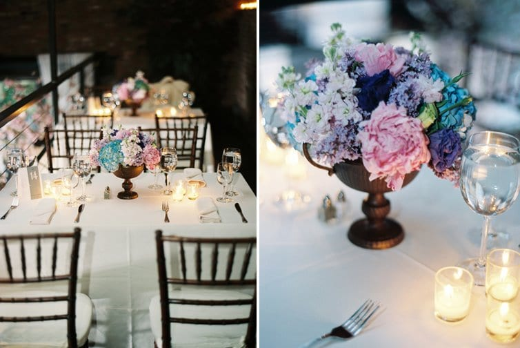 pink-purple-blue-white-wedding-centerpieces - The Sweetest Occasion
