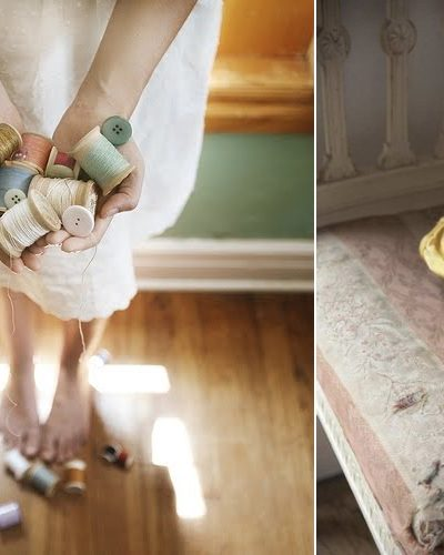 Inspiring Images – Vintage Thread and Yellow Pointe Shoes thumbnail