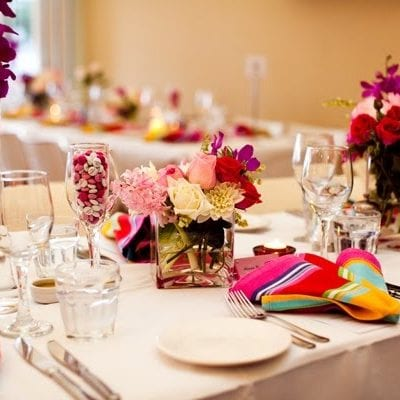 Bright and Colorful Reception Decor thumbnail