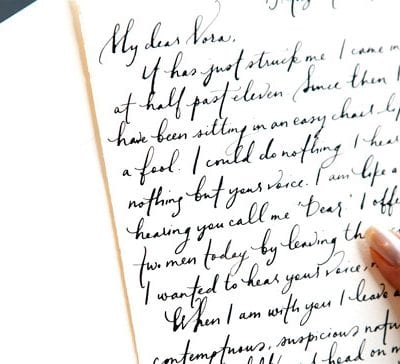Calligraphy Love Letters from Paperfinger