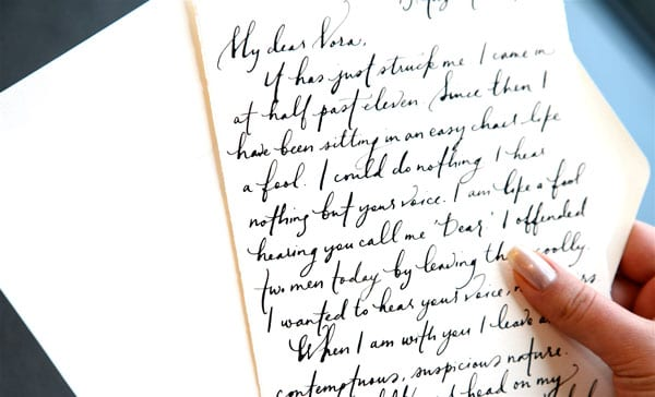 Calligraphy love letters from paperfinger the sweetest