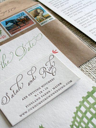 Sarah Parrott's Beautiful Letterpress Save the Dates thumbnail