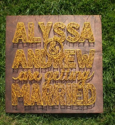 DIY String Art Wedding Sign thumbnail