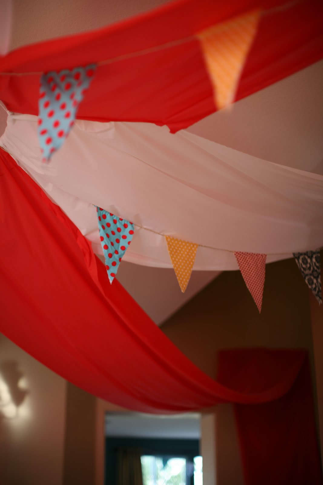 Fabric Bunting Circus Tent Circus Themed Birthday Party