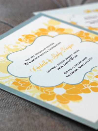 Gray and Yellow Baby Shower by Chelle Paperie thumbnail