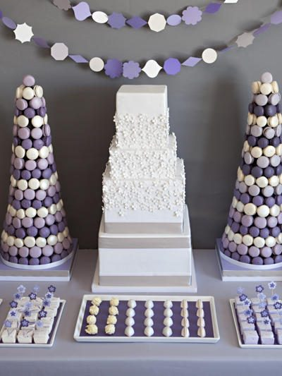 Pretty Purple Dessert Buffet thumbnail