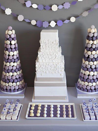 Pretty Purple Dessert Buffet thumbnail