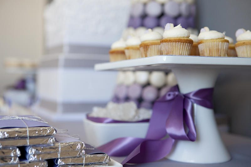 purplewhitegrayweddingcolorideasdessertbar