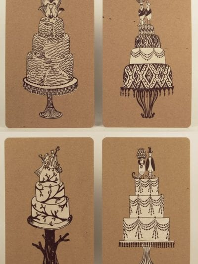 Wedding Cake Letterpress Prints from Yee-Haw Industrial thumbnail