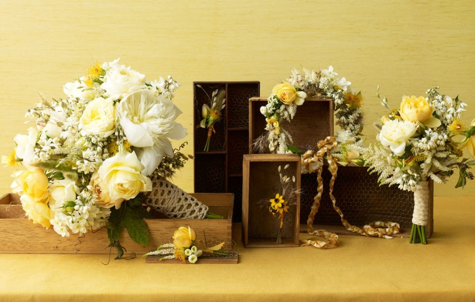 Brown And Gold Wedding Ideas: Sunshine Yellow Color Palette