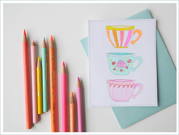 diy-color-pencil-tea-cup-card