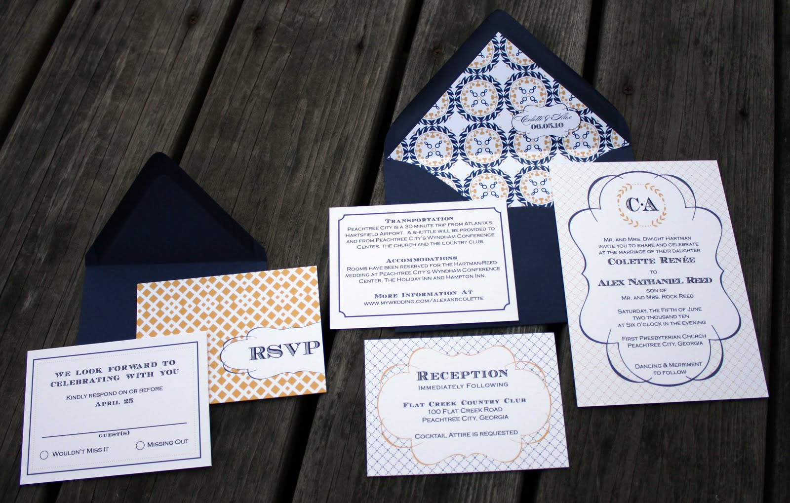 Madeline Wedding Invitations By Fourth Amp Folded