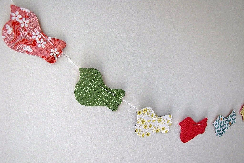Patterned Paper Bird Cut Garland Diy Craft Project Ideas