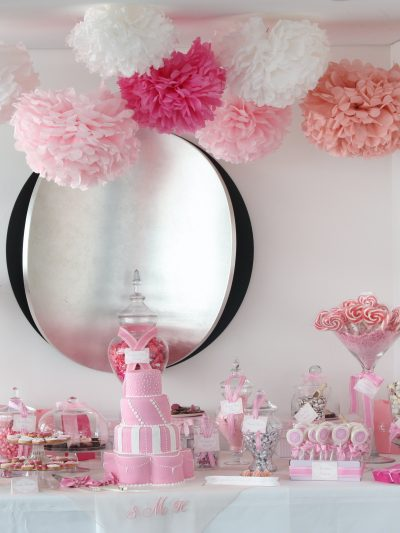 Sugarcoated Pink and White Candy Buffet thumbnail