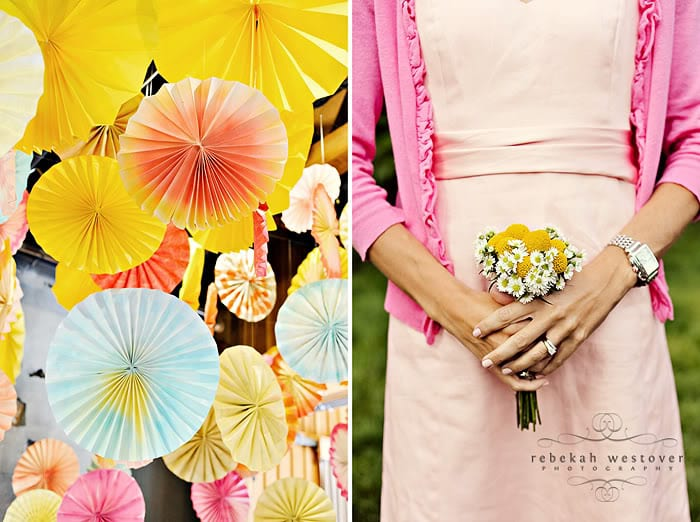 Pink Yellow and Orange Wedding Details - The Sweetest Occasion