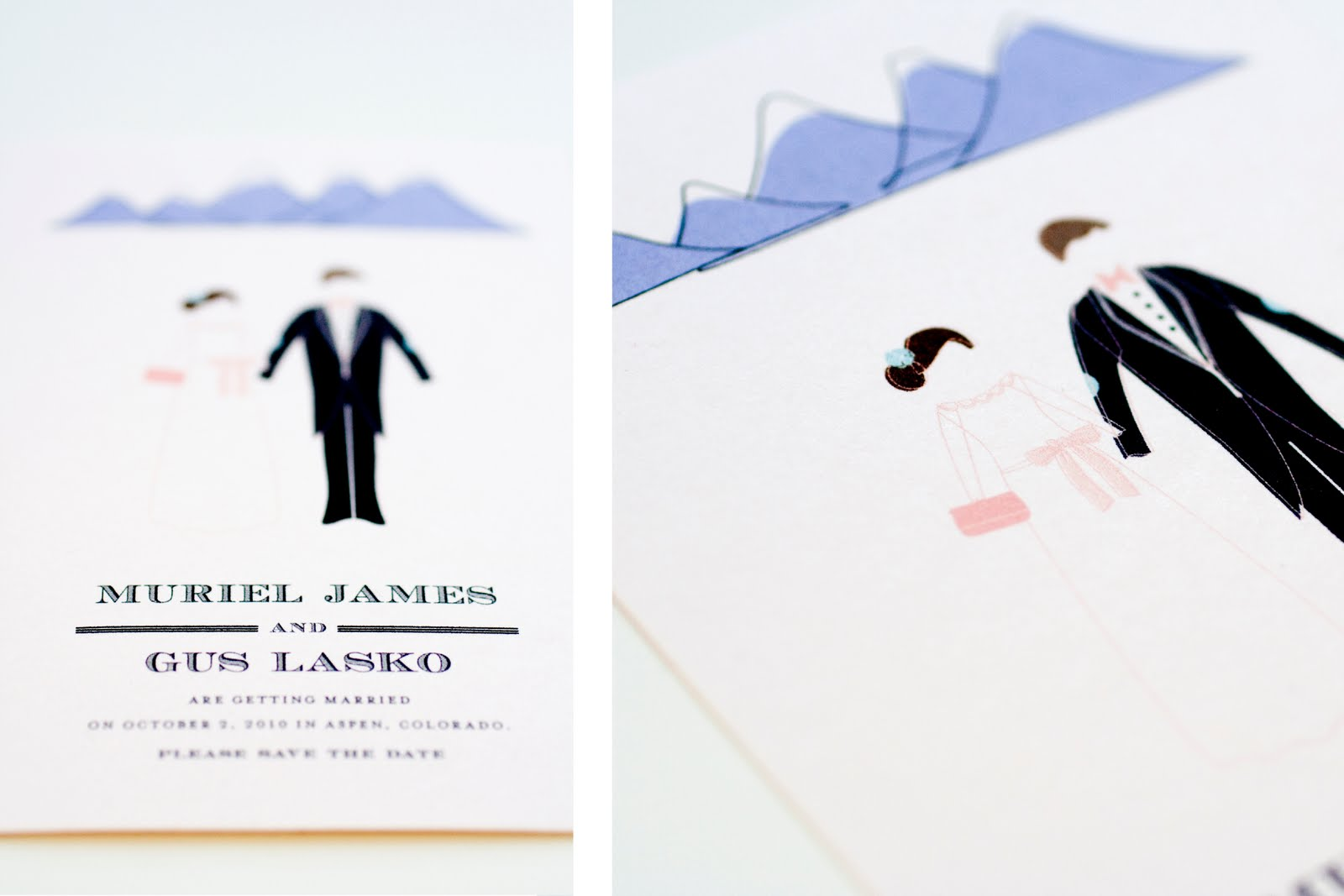Wedding Theme Invitations: Mountain Theme Wedding Invitations From MaeMae Paperie