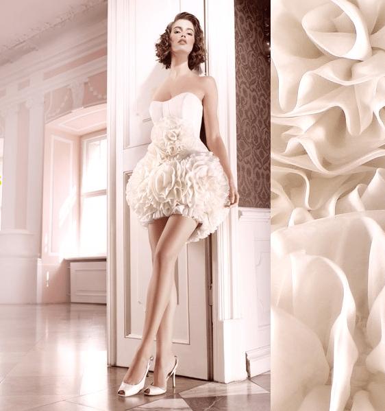 short-strapless-ruffled-wedding-dress