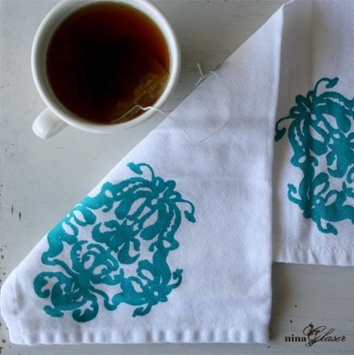 teal-white-block-printed-fabric-napkin-tea-bag-mug