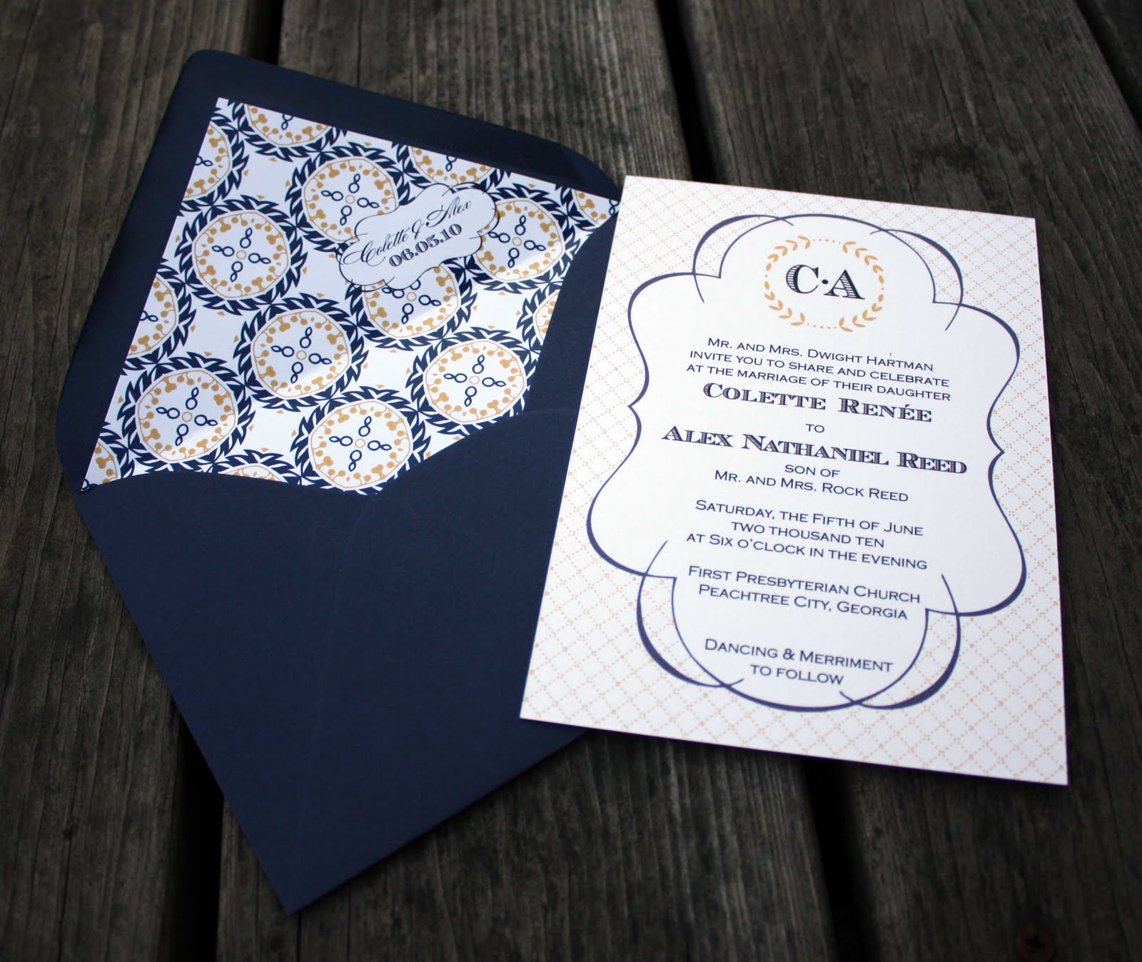 Madeline Wedding Invitations by Fourth & Folded - The Sweetest Occasion