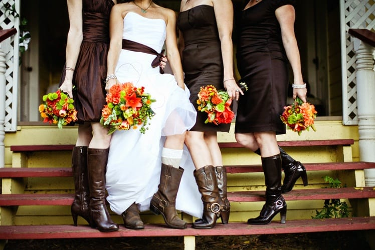 Cowgirl Boots For Wedding Dress 7 Luxury bridesmaids cowboy boots orange