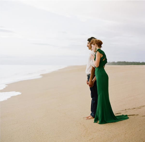 Mexican Beach Wedding Green Dress